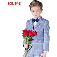 ELPA boys suit clothing set baby Blue plaid boy formal occasion suits for wedding/Show