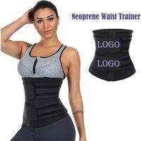 Best Selling  Double Belt Plus Size  Shapewear Neoprene  Custom Women Corset Waist Trainer Private Label