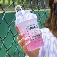 '400ml 600ml Shaker Bottles Custom Logo Plastic Sports Protein Mug Wholesale Shaker Bottle
