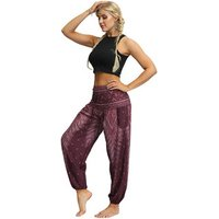 New Unisex Elephant Harem Pants Drawstring Waist Boho Printed Trousers Women Sexy Yoga Pant