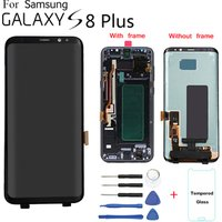 Hot sale lcd screen display for samsung s8 plus mobile phone original,for samsung galaxy s8 plus lcd with frame screen replace