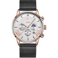 2019 luxury crazy sport stainless steel leather watch strap band chronograph man wrist bracelet watch