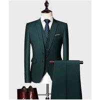 High Quality 11 Colors S-5XL 3 Pieces Business Suit Set For Men Custom Tuxedo Slim Fit Men Wedding Suit
