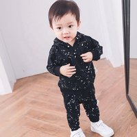0-3 years old clothing suppliers new design boutique kids boys sport suit set baby tracksuit clothes sets 1839