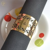 Wedding table centerpieces filigree paper crafts laser cut gold wedding napkin ring