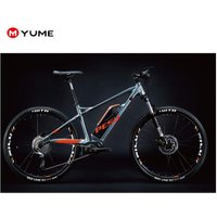 Yume and Pesu 27.5inch alloy  MTB e bicycle 350w mid drive motor mountain electric bike  with lithium battery
