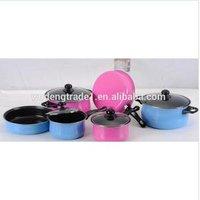 stainless steel gas/induction cookware set iron casserole pan nonstick aluminum  fry pan  milk pot cooking pots  10 sets WD-257