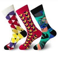 wholesale new style dress socks OEM happy socks men