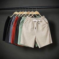 Shorts 2019 mens trousers summer casual loose cotton linen comfortable pants plus size XXXXXL beach shorts