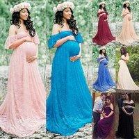 2019 Women Fashion Pregnant Women Chic Vogue Sequins Patchwork Casual Short Sleeve Floor Length Loose Chiffon Maternity Dress