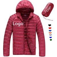 Women Basic Outer Hooded Lightweight Zipper 90% Down 10% Feather Korean Goose China Duck Mens Light Down Jacket For Winters Men