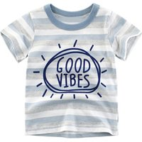 Mudkingdom baby boy wholesale striped cotton t shirts for kids