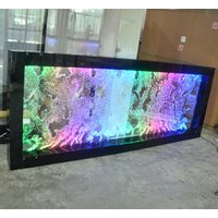 wall hanging mounted bubble square tube bubble water wall panel RGB color waterproof panel bubble
