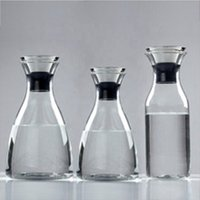 Heat Resistant Borosilicate Glass Water Pitcher / Carafe / Jug with Stainless Steel Lid for Homemade Juice and Iced