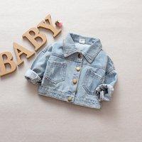 Children Denim Jacket Coat 2019 New Autumn Kids Fashion Outerwear Baby Boy Girl Jeans Coat