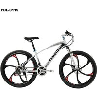 26 Inch Mountain Bike 21 Speed Double Disc Brakes Bike Carbon Steel Frame Men And Women Students Bicycle