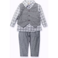 Newborn Toddler Baby Cute Boy Waistcoat+Pants+Shirt Outfit Clothes Set Suit 3pcs boys clothing set
