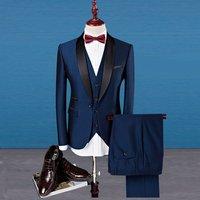 ZH1164B High Quality Hot Sale Business man 3pcs set Casual Slim Suit Groom wedding Man Tuxedo Suit
