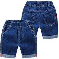 Children denim clothing summer baby stretch waist five shorts jeans casual kids pants alkz252