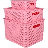 small plastic stackable black plastic storage basket