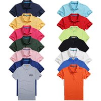 Mens solid color short-sleeved shirt 2019 top big brand POLO shirt
