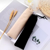 'Portable Stainless Steel Storage Straw Bag Reusable Straw Pouch Picnic Camping Chopsticks Spoon Tableware Bag