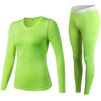 2 piece set women clothing Long Sleeve Compression fitness shirts and workout leggings Gym Sets