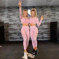 Seamless stitching Jumpsuits Pants For Women Fitness Sportswear Yoga Wear Leggings Tight Pants