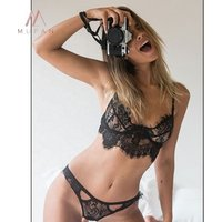 Womens underwear set sexy lace  rimless lingerie