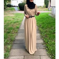 2019 Maxi Design and Casual Dresses Type muslim long sleeve maxi dress