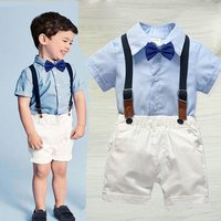 Boy Clothing Sets Summer Toddler Kids Boys Clothes Suit Print Shirt + Shorts Outfits Sets Child Clothing Y11467