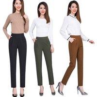 Fashion Harem Women Pants Summer Autumn Elastic Waist Casual Slim Work Wear Trousers