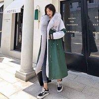 Professional Design  Real Men Parka Fur Coat woman
