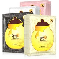 'Wholesale Natural Organic Ha Pure Honey Propolis Moisturizing Facial Mask Sheet Honey Face Mask Black Bamboo Charcoal Mask