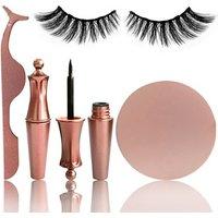 Own logo Rose Gold Lash Applicator Tweezer Waterproof Liquid Magnetic Eyeliner And Lashes