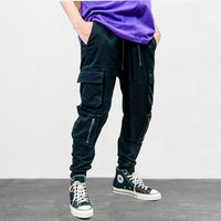 VFIVEUNFOUR Vintage Multi-Pockets Harem Joggers Pants Streetwear 2019 Men Hip Hop Casual Cargo Sweatpants Trousers Pants Male