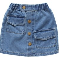 summer new version A-line girl skirt envelope bag denim half skirt