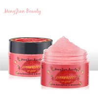 Private label strawberry cucumber extract removal  exfoliation sugar lips scrub