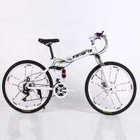 24 and 26 inch cheap adult 21variable speed double disc brake folding mountain bike 10 knife wheel bicycle