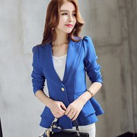 Ladies Blazer Personality Jacket Long Sleeve Ruffles Jackets For Women Business Blazers Spring Autumn A511