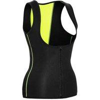 women waist trainer vest shaper body sweat corset weight sauna loss neoprene tummy zipper womens control slim with black