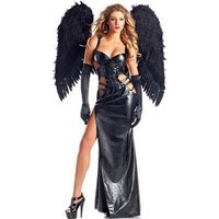 'Poeticexst Witch Dress Devil Dark Angel Costume For Women Adults Halloween Sexy Angel Costume