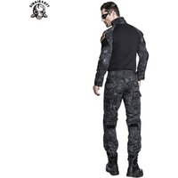 Hunting Paintball Tactical Tight Army Military Combat Clothing Men Frog Camouflage Suit Military Uniform With Elbow Knee Pads