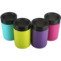 12OZ stainless steel can holder cooler double wall insulation cola beer can cold keeping bottle