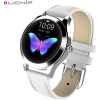 LICHIP L283 Lady smart watch stainless steel leather ladies woman women wristband wrist smartwatch phone band bracelet for girl