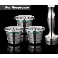 3 Capsule 1 Tamper Refillable Reusable Nespresso Coffee Capsule Stainless Steel Nespresso Capsule Coffee Grinder Set Coffee Tool