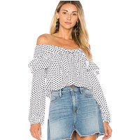 2019 new sexy off shoulder womens top wave point long-sleeved blouse for women XM213