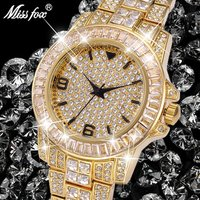 Watch Luxury Golden Business Men Watch Top Brand Fashion Full Diamond Casual Unisex Wristwatch Waterproof Watches
