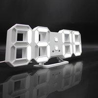 '3d Led Wall Clock Saat Digital Alarm Clocks Display 3 Brightness Levels Watches Nightlight Snooze Home Kitchen Office Moment