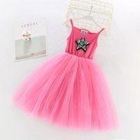 Wholesale Girls Gold Silver Star Sequin Flip Tutu Dress in Pink